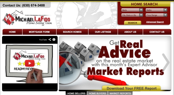 www.livingindupage.com, a residential real estate website provided by Mike Lafido